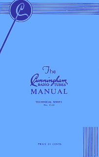 Cunningham radio tubes manual