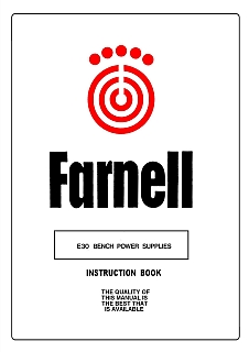 Farnell - E30 Bench Power Supplies