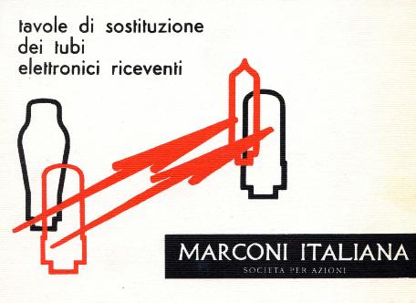Tavole di sostituzione dei tubi elettronici riceventi, Marconi