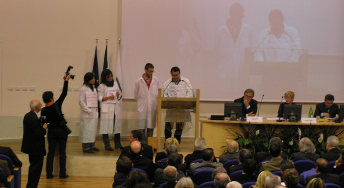 Manifestazione precari Università Ancona