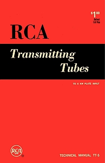 RCA - Transmitting Tubes Technical Manual TT5 1962