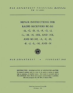 manuale Repair instructions for radio receivers BC-312 and BC-342