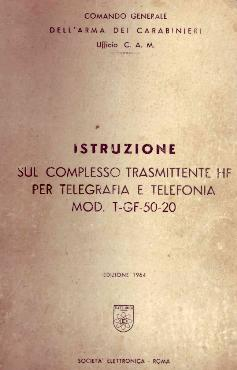 Manuale complesso trasmittente telegrafia e telefonia T-GF-50-20