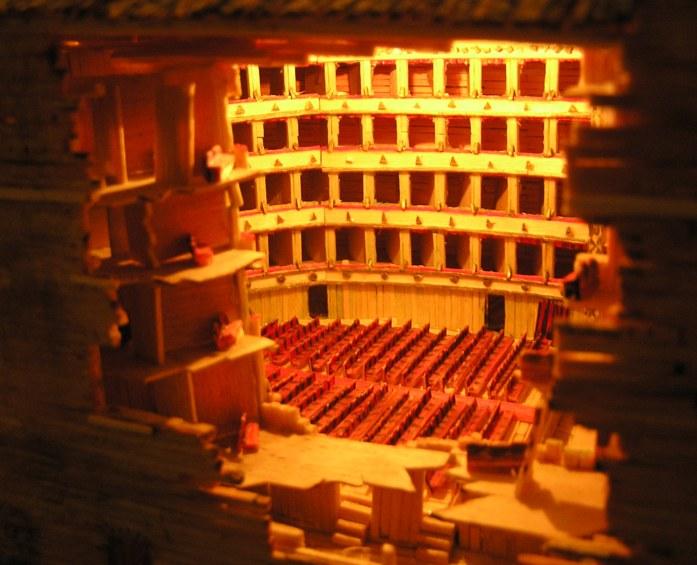 modellino interno di un teatro